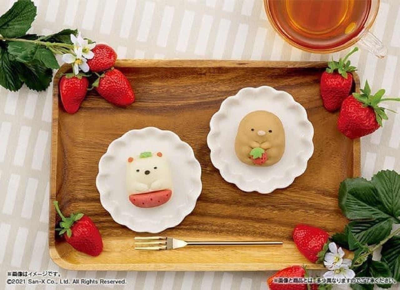 ファミマ「食べマス すみっコぐらし いちごver.」しろくま&とんかつの和菓子