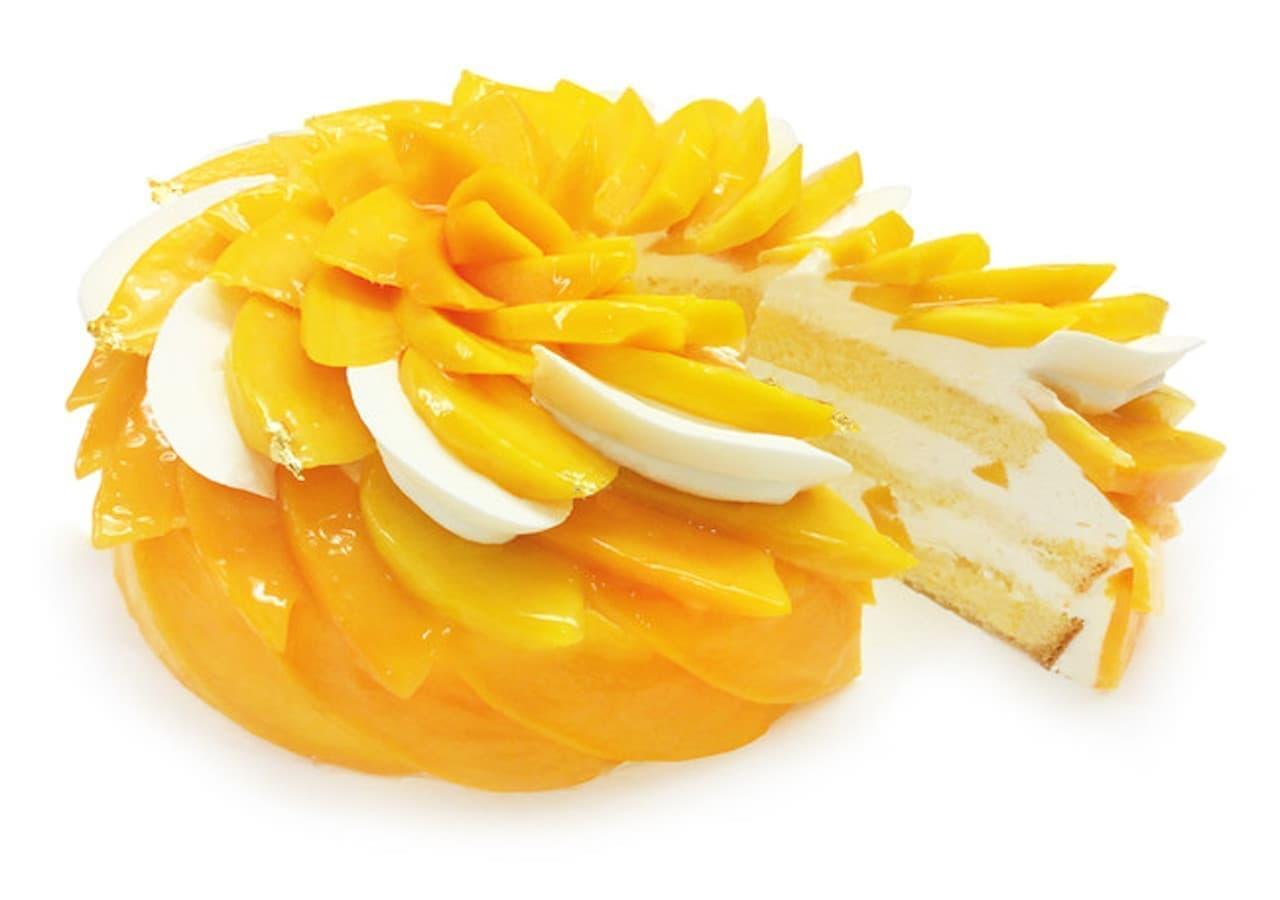 カフェコムサ『宮崎県産「完熟マンゴー」のショートケーキ』ショートケーキの日限定