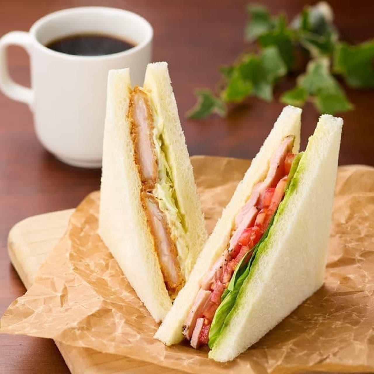 カフェ・ベローチェ「バジルチキンサンド」と「チキン南蛮サンド~柚子風味~」