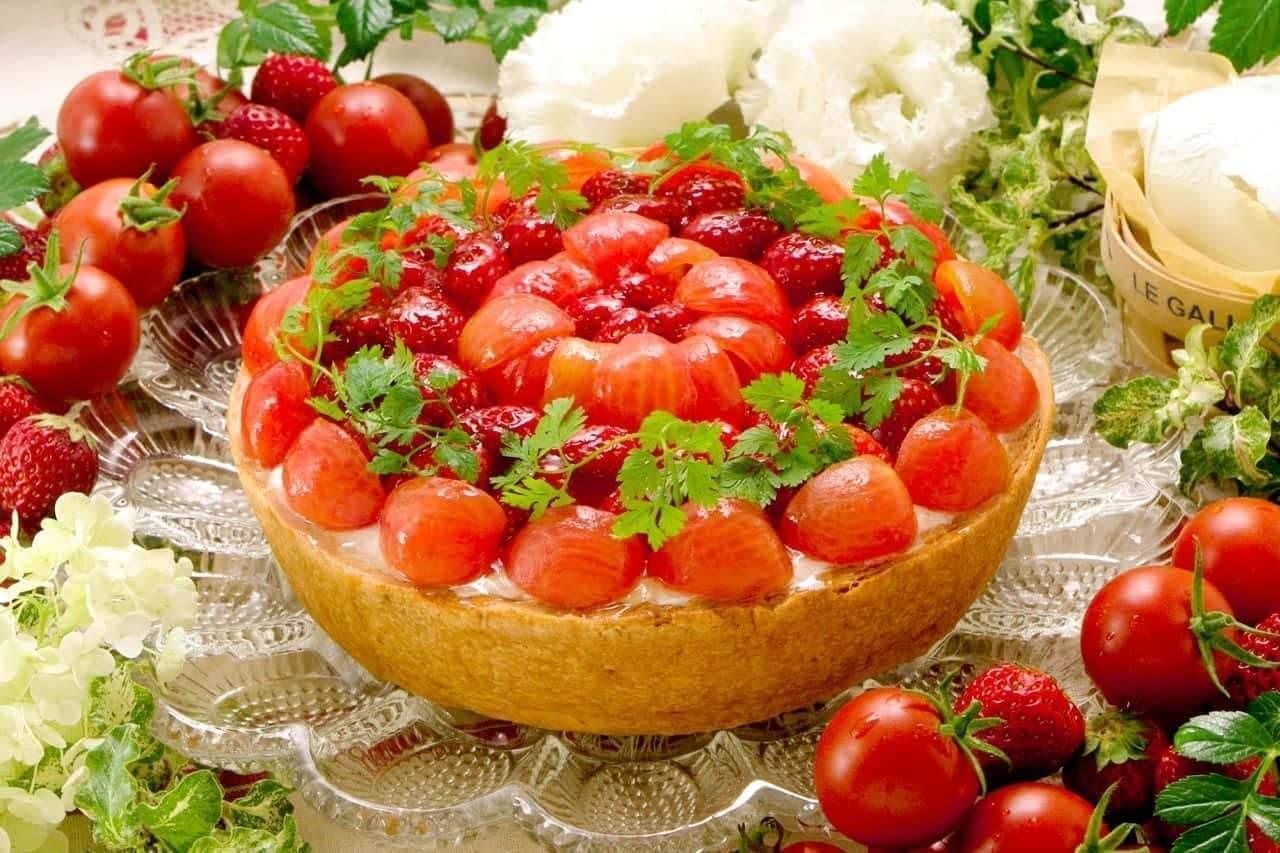 キル フェ ボン「フルーツトマトとチーズのタルト」