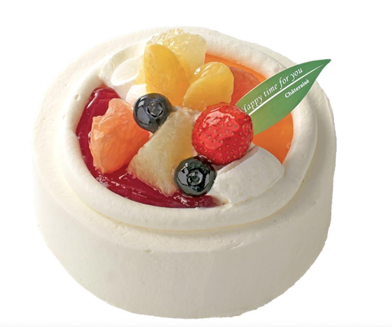6月「苺と柑橘のスフレチーズデコレーション」