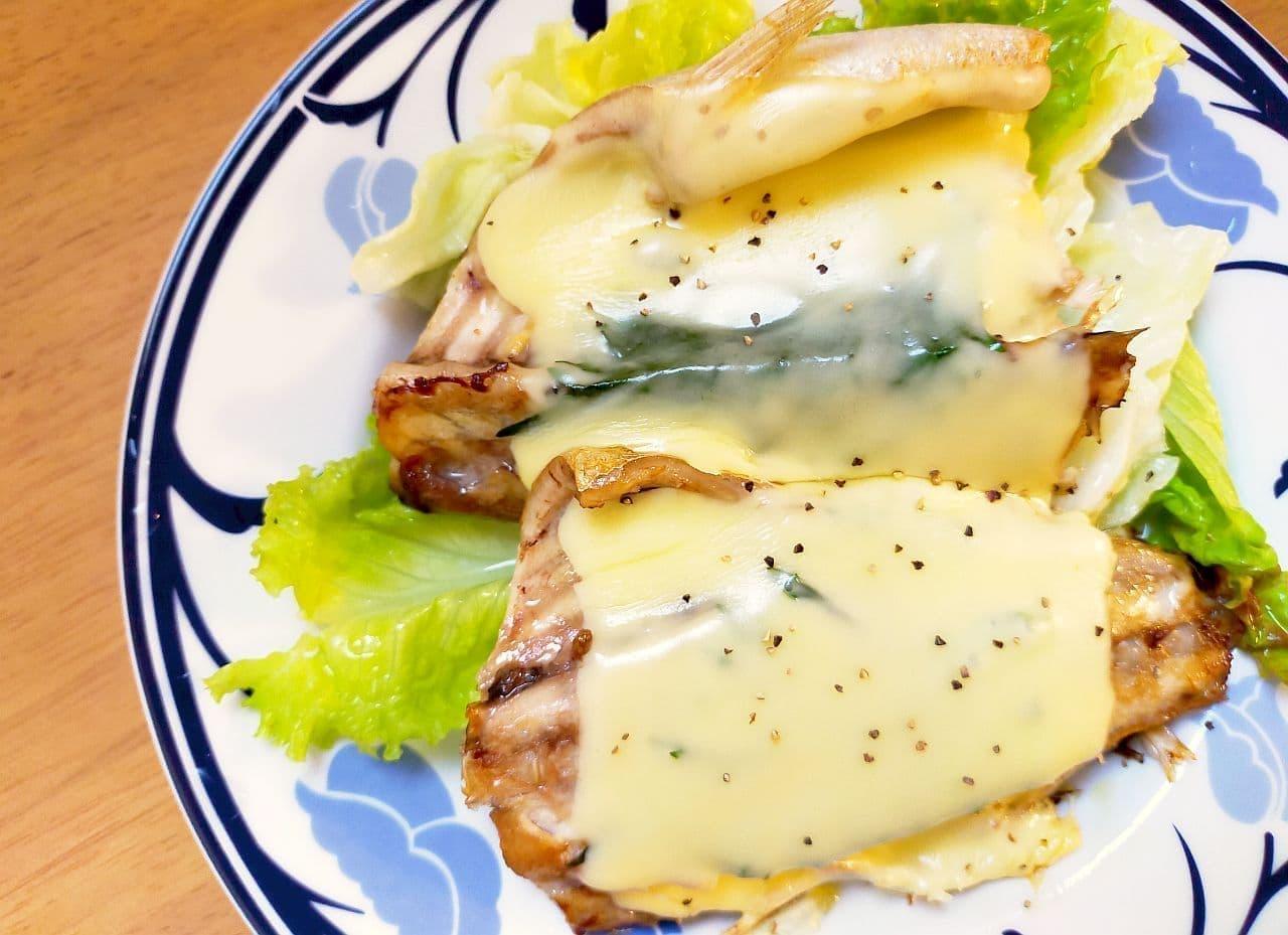「さばのフライパンチーズ焼き」レシピ
