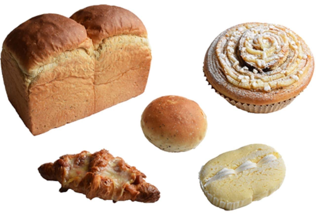 ポンパドウル 6月の新作パン!「紅茶食パン」「紅茶のロールパン」