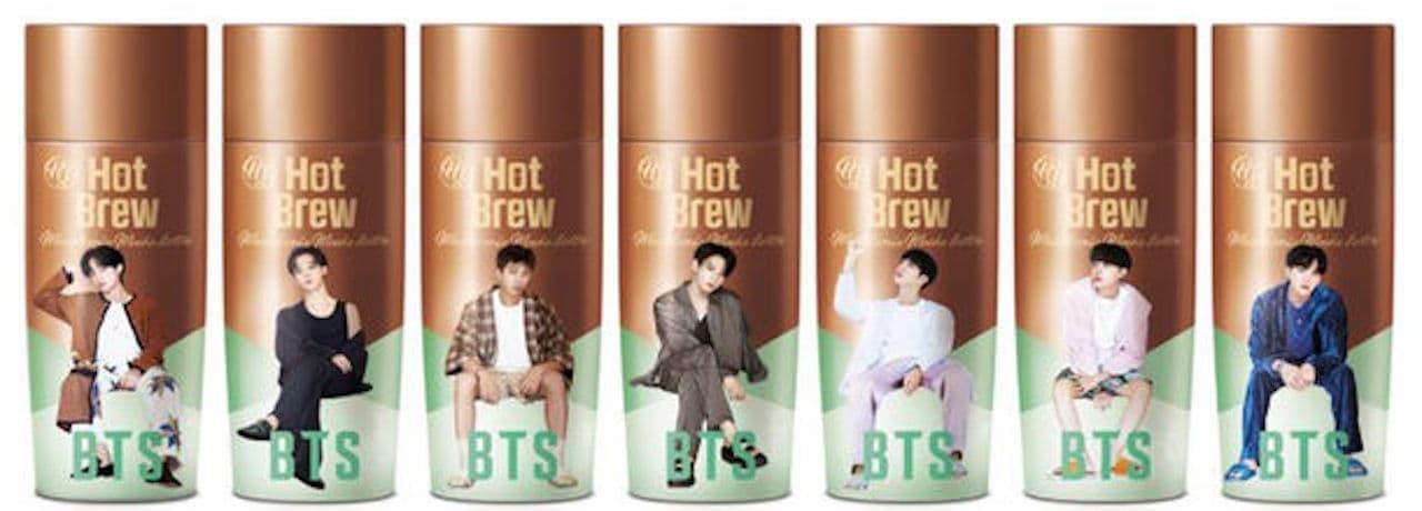 「BTSスペシャルパッケージ ホットブリューマカダミアモカラテ」ファミリーマート&ブロコリストアから