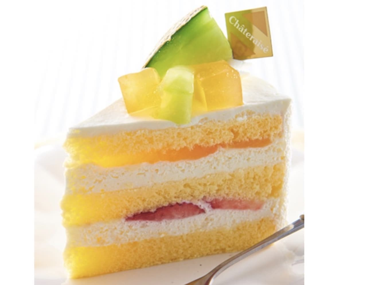 シャトレーゼ「アンデスメロンのプレミアム純生クリームショートケーキ」