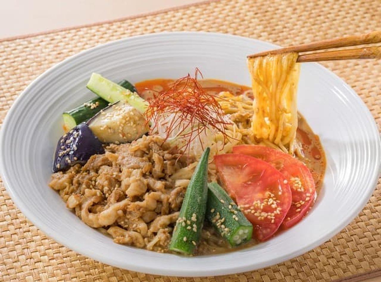 バーミヤン「夏野菜の冷やし担担麺」