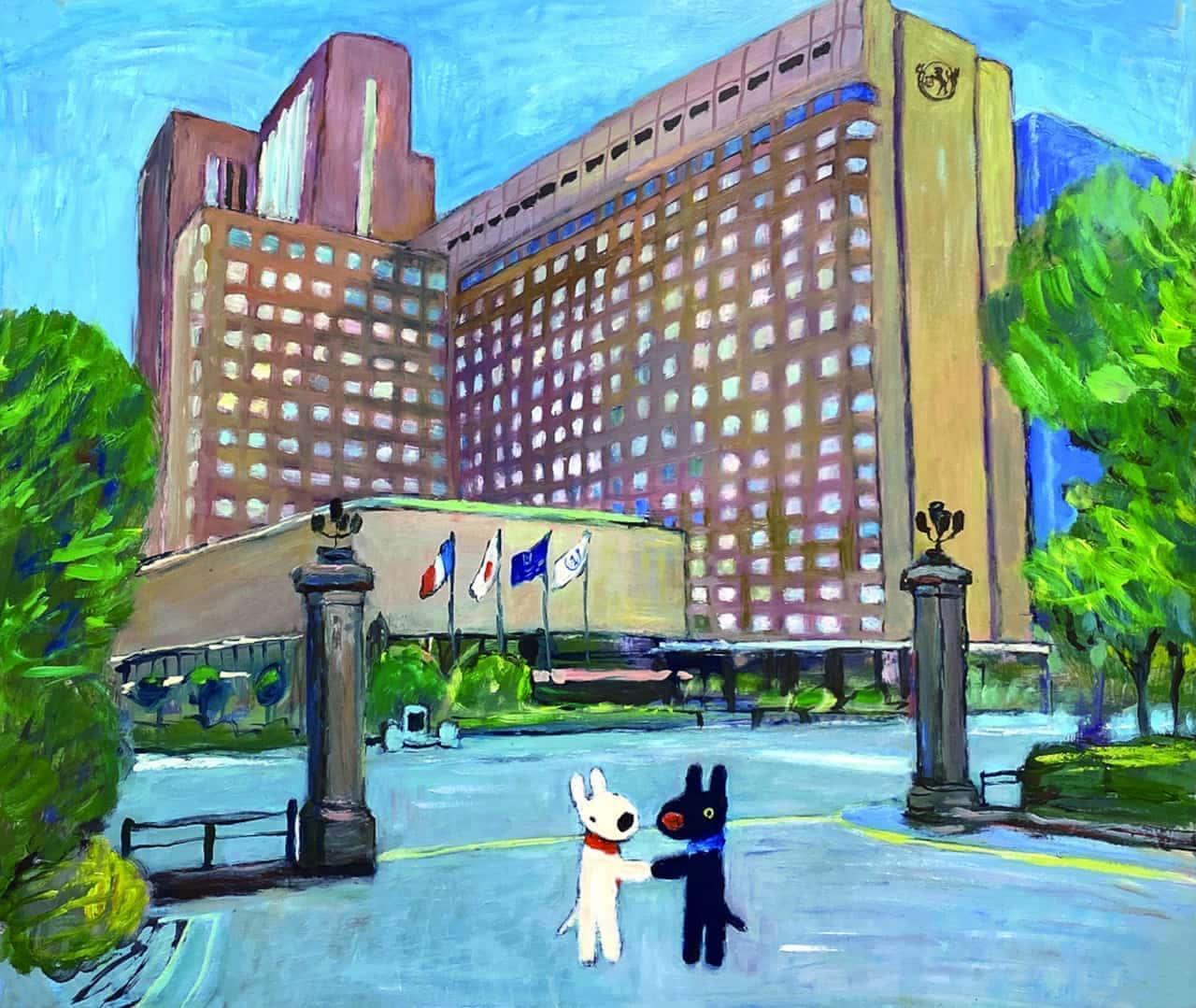 「リサとガスパール」と帝国ホテル東京のコラボ