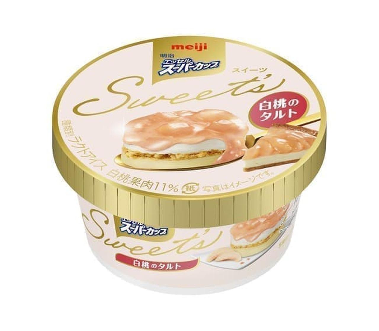 Meiji Essel Super Cup Sweet 's White Peach Tart
