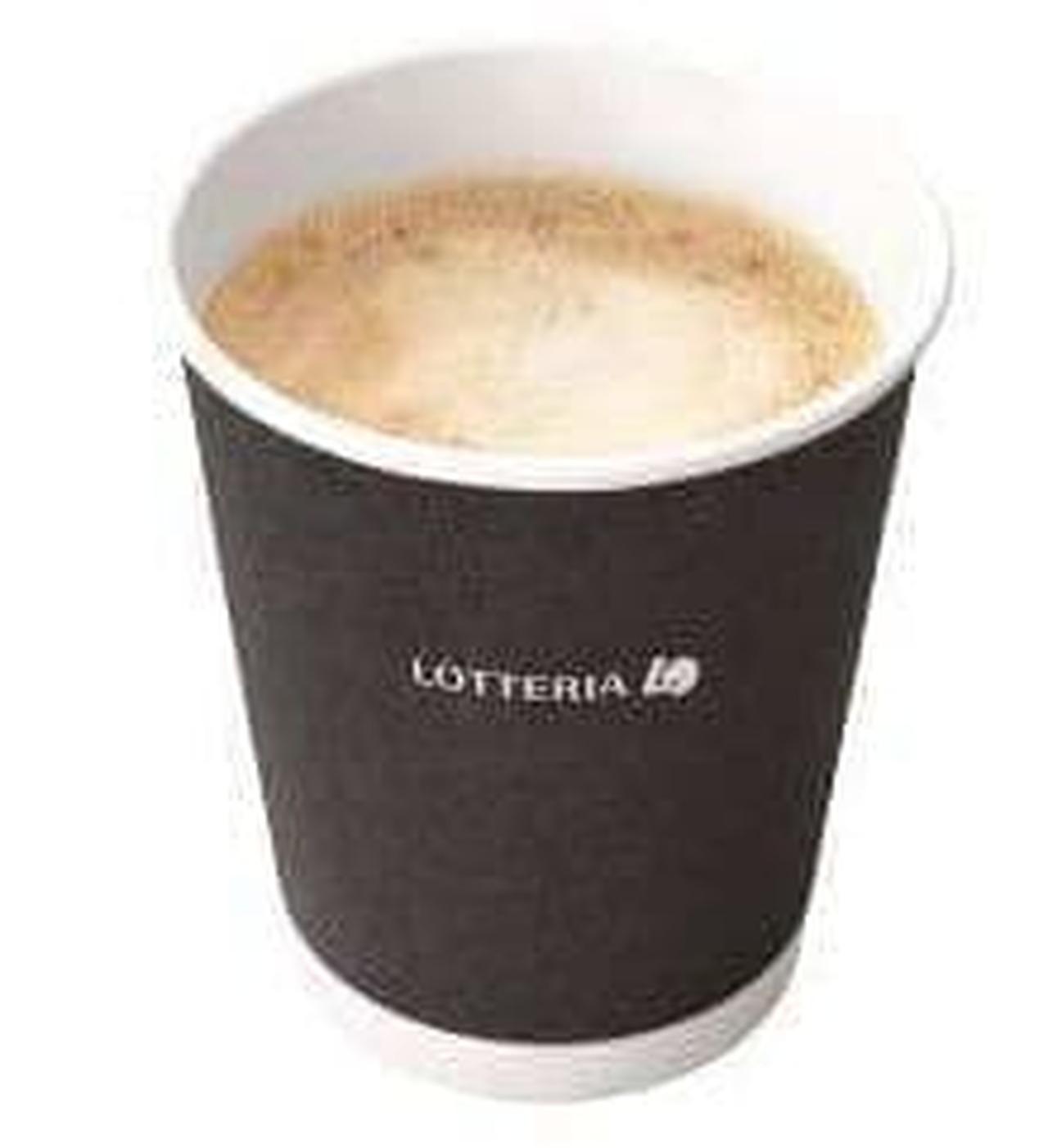 ロッテリア「ホットカフェラテ」