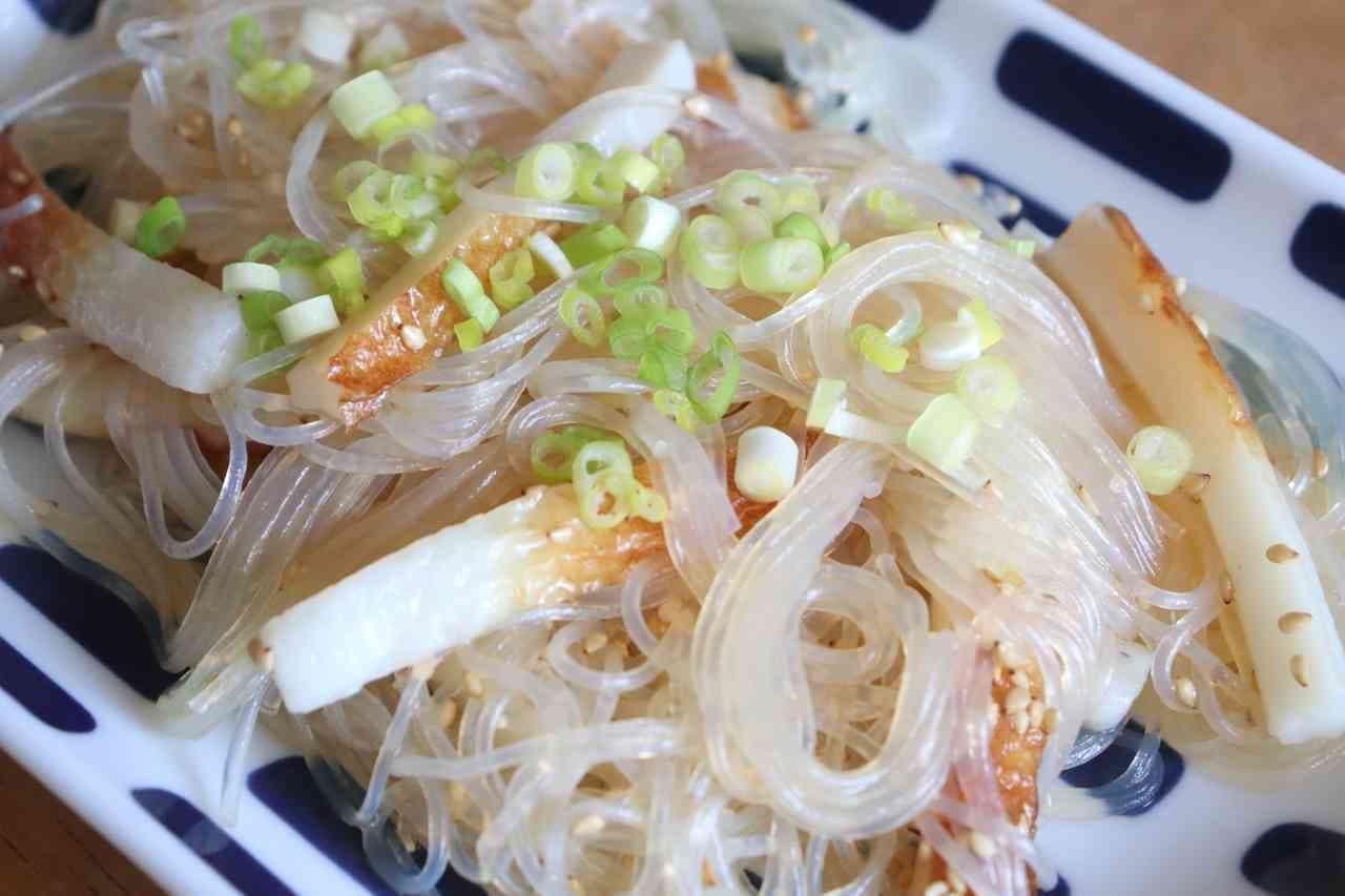 つるんとヤミツキ「ちくわ春雨サラダ」レシピ!