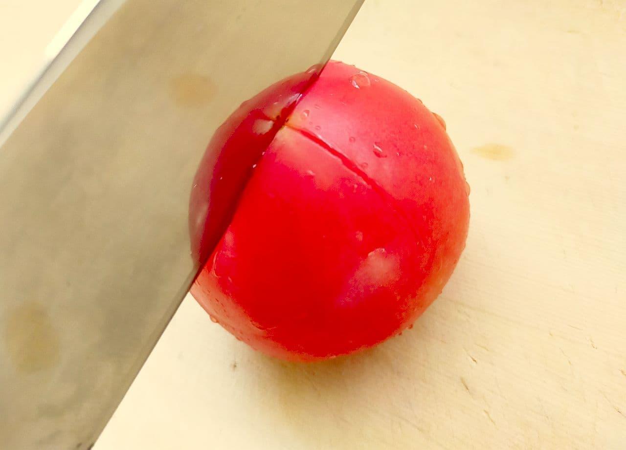 ステップ1 トマトの皮むき方法