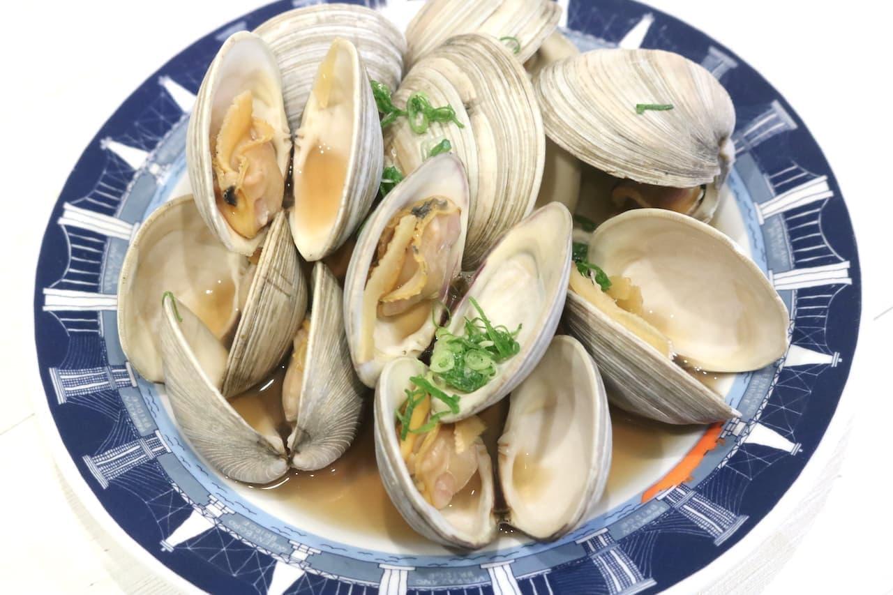 レシピ「ホンビノス貝の酒蒸し」