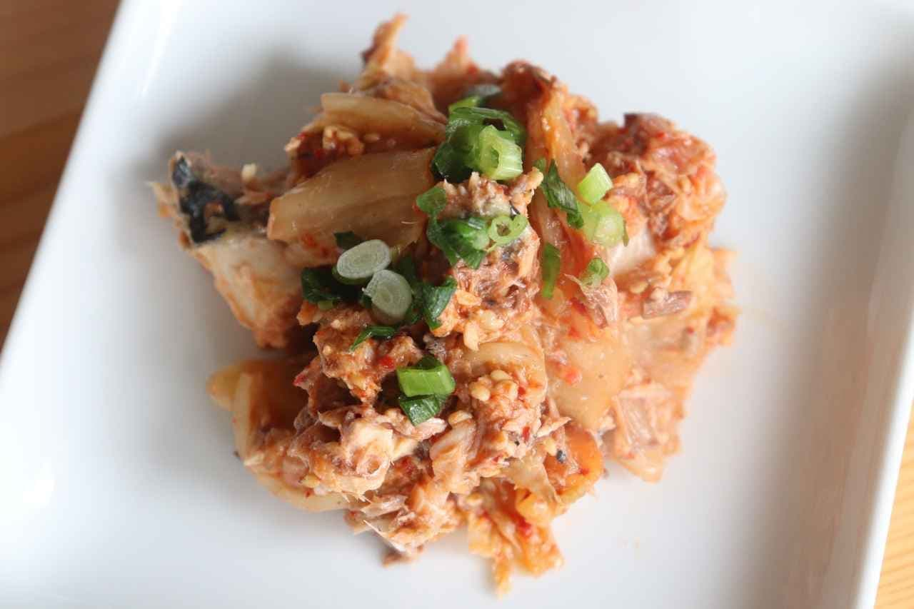 「サバ缶キムチ和え」簡単レシピ