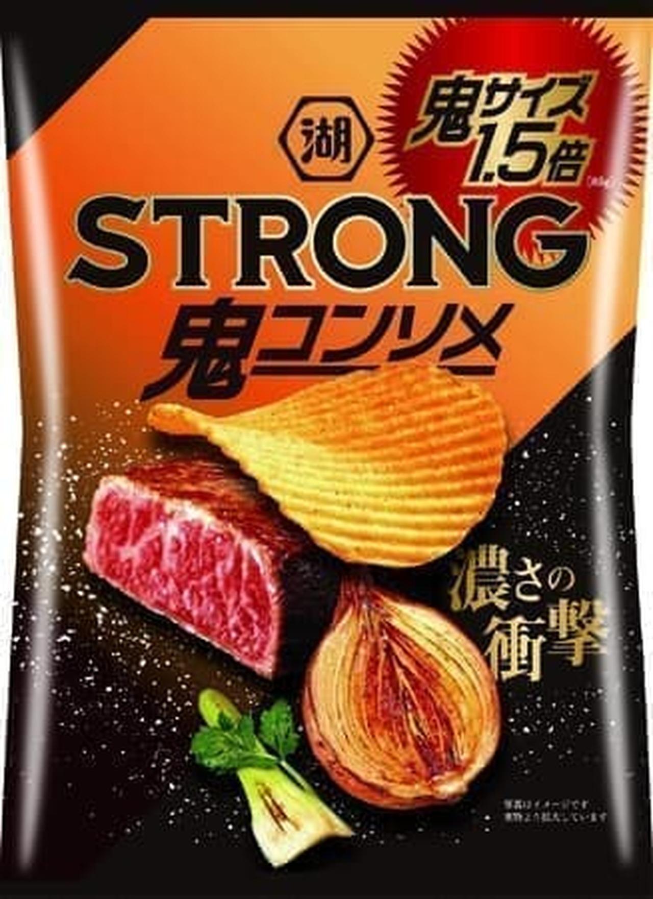 湖池屋STRONG ポテトチップス 鬼コンソメ 鬼サイズ1.5倍