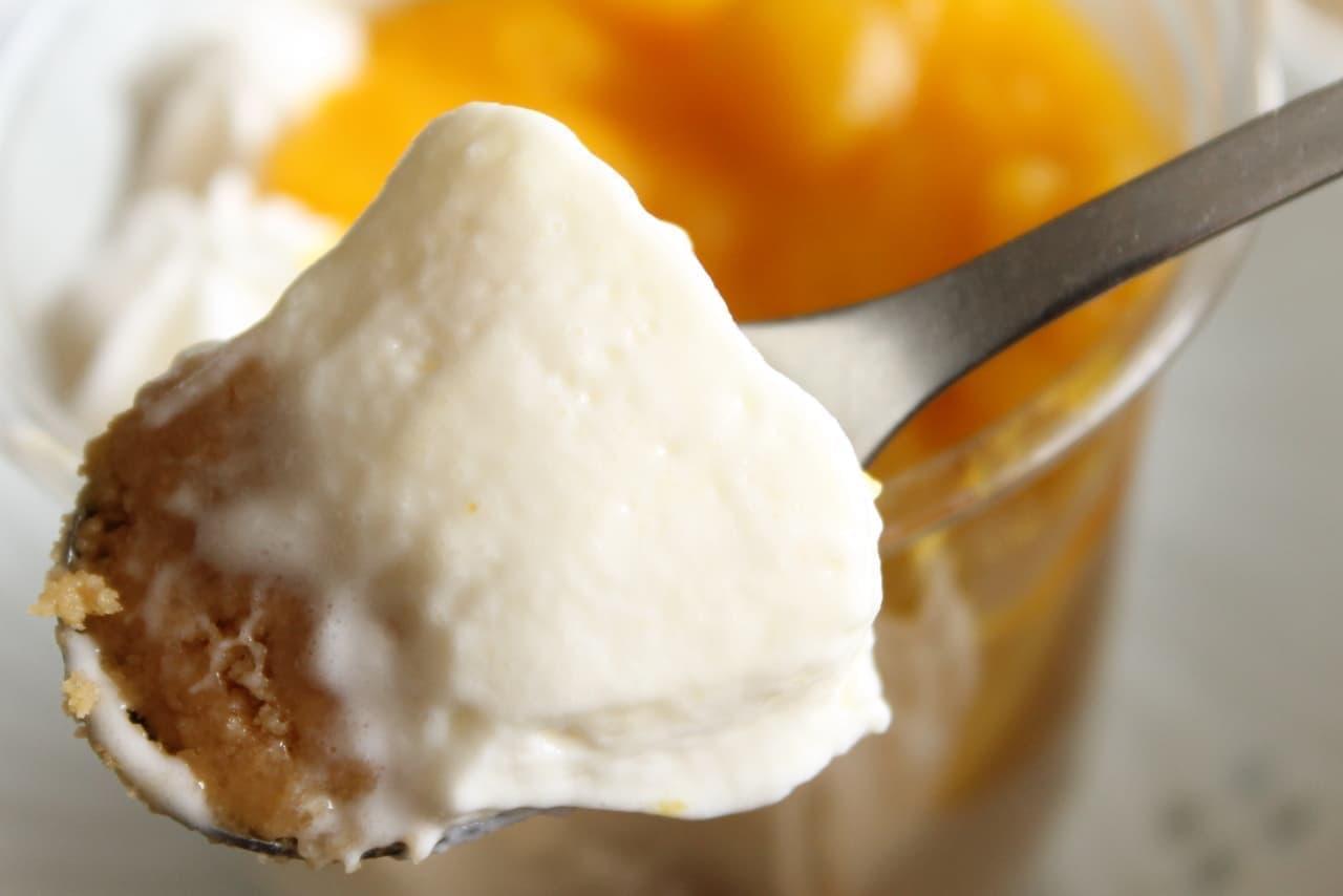 セブン「マンゴーマンゴーレアチーズ」