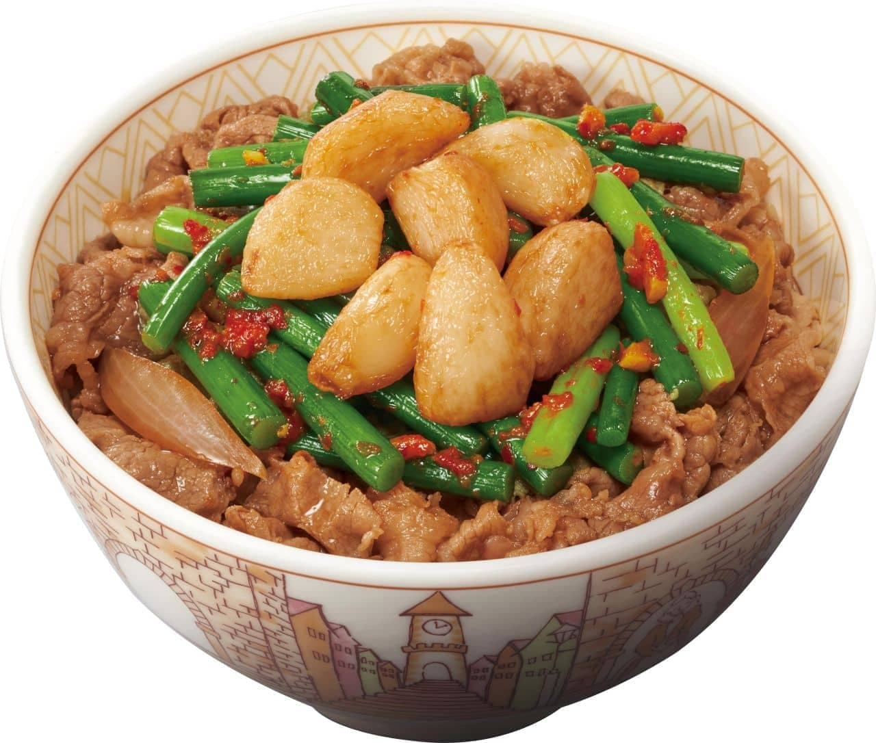 すき家「Wニンニク牛丼」