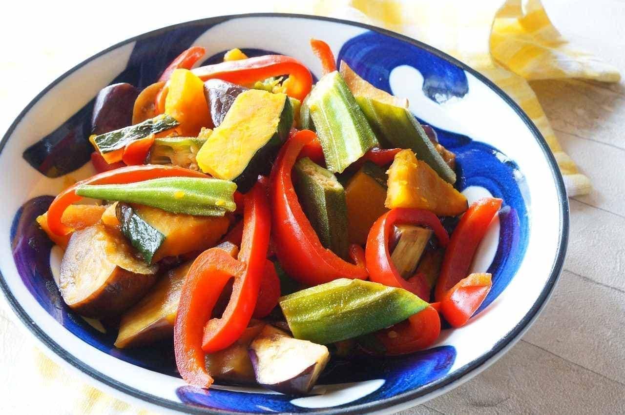 「夏野菜の南蛮漬け」のレシピ。