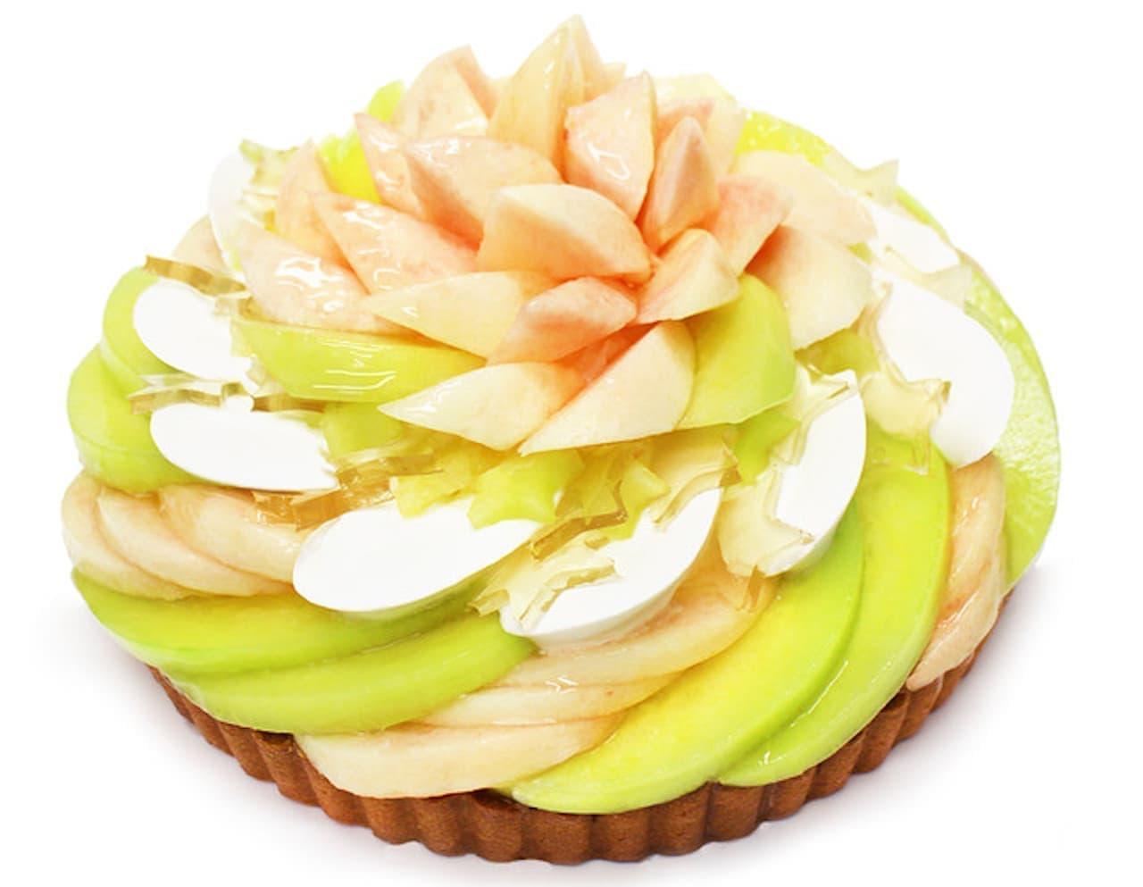 カフェコムサ「彦星 - ももとメロンのケーキ -」