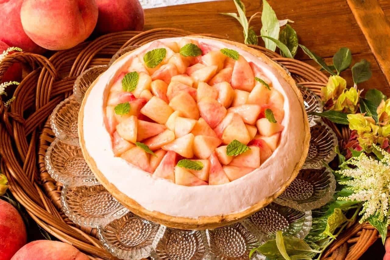 キル フェ ボン「桃とチーズのタルト」