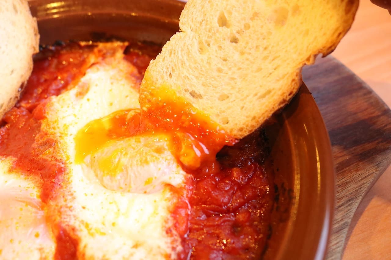 "Saizeriya's new menu ""Purgatory Eggs"""