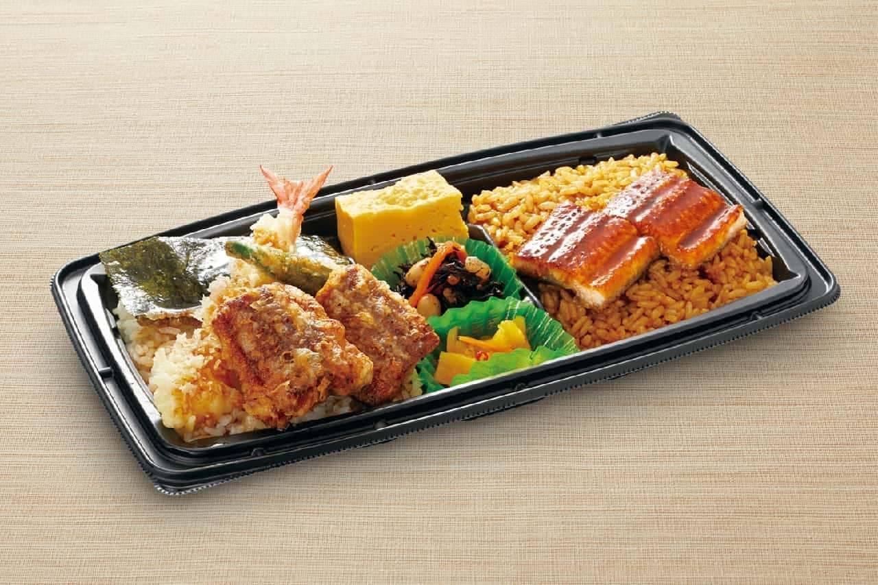 和食さと「鰻のよくばりダブル丼(うな丼&うな天丼)」