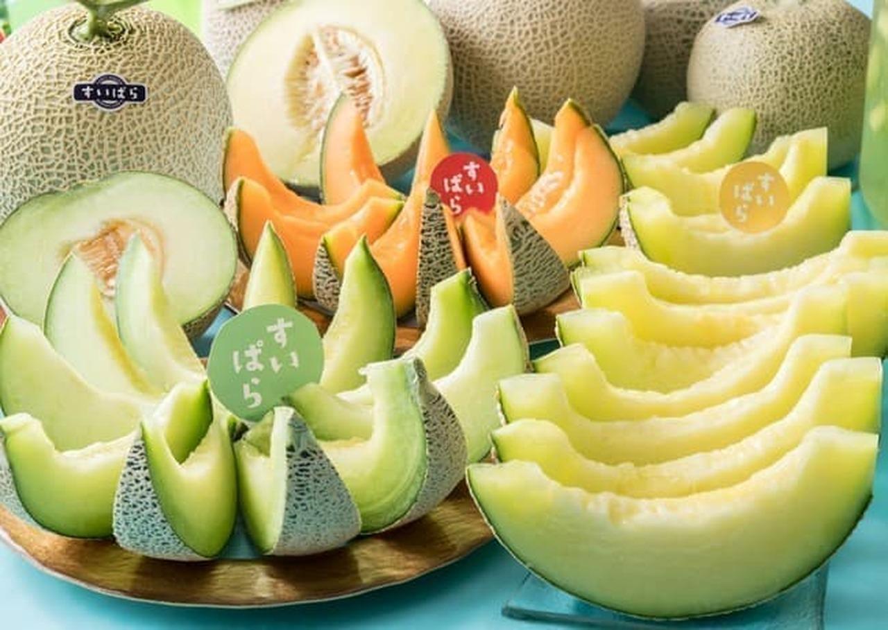 スイーツパラダイス フルーツパラダイス「もも・メロン食べ放題」のメロン