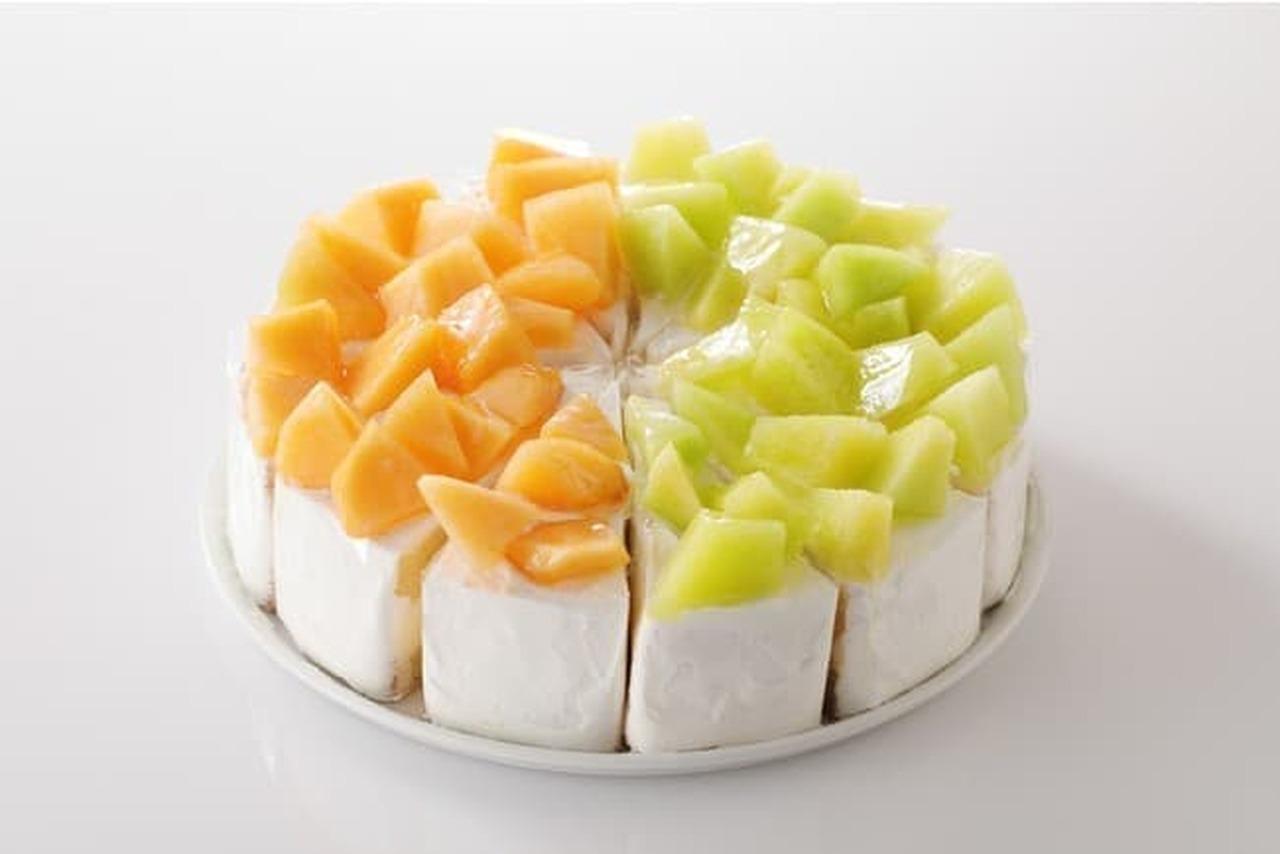 スイーツパラダイス フルーツパラダイス「もも・メロン食べ放題」のスペシャルショートメロン