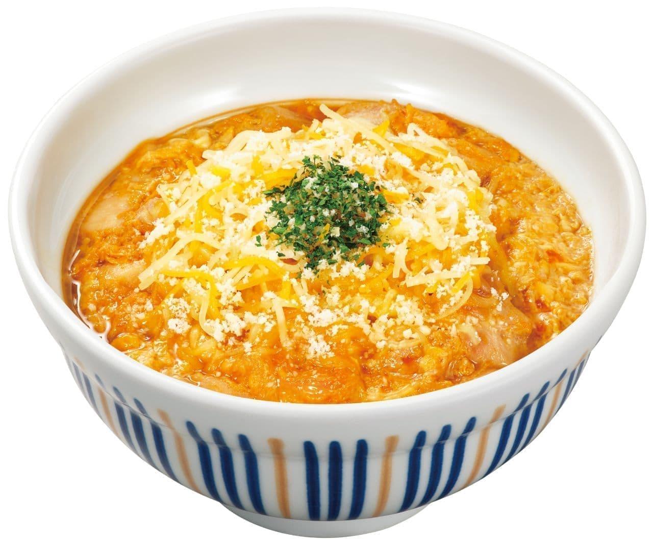 なか卯「濃厚チーズの親子丼」