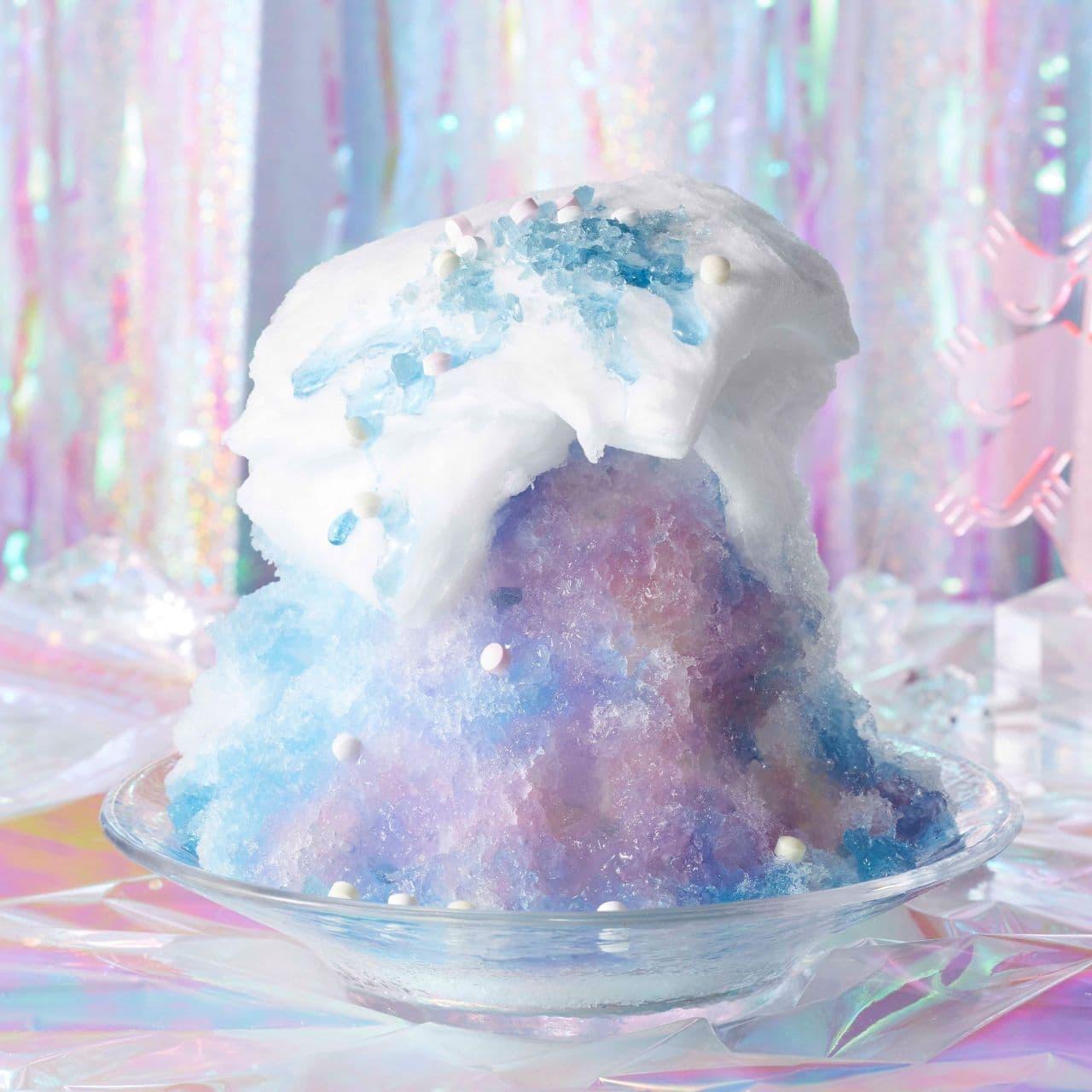 ココス「コットンポップブルーのふわふわかき氷」
