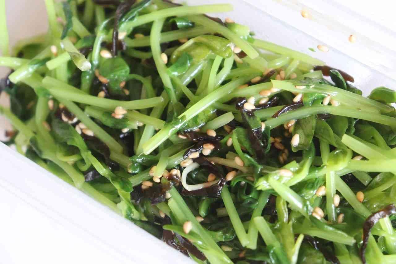 「豆苗の塩昆布ナムル」のレシピ
