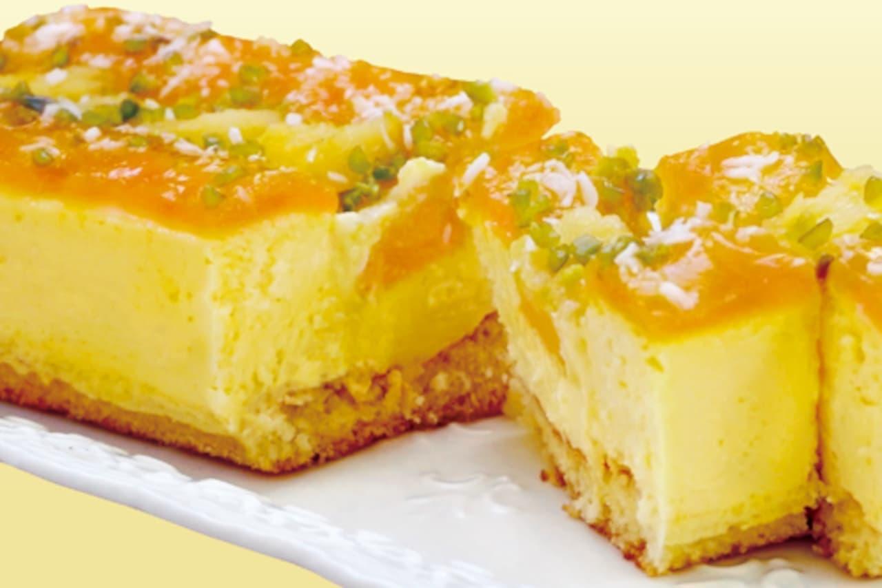 成城石井自家製「4種フルーツのトロピカルチーズケーキ」