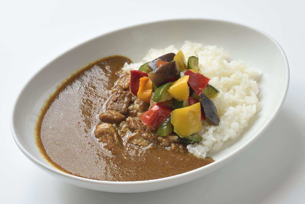 銀座コージーコーナー「羊肉と夏野菜のスパイシーカレーセット」