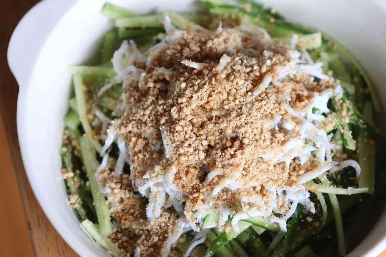 「しらすきゅうりサラダ」の簡単レシピ