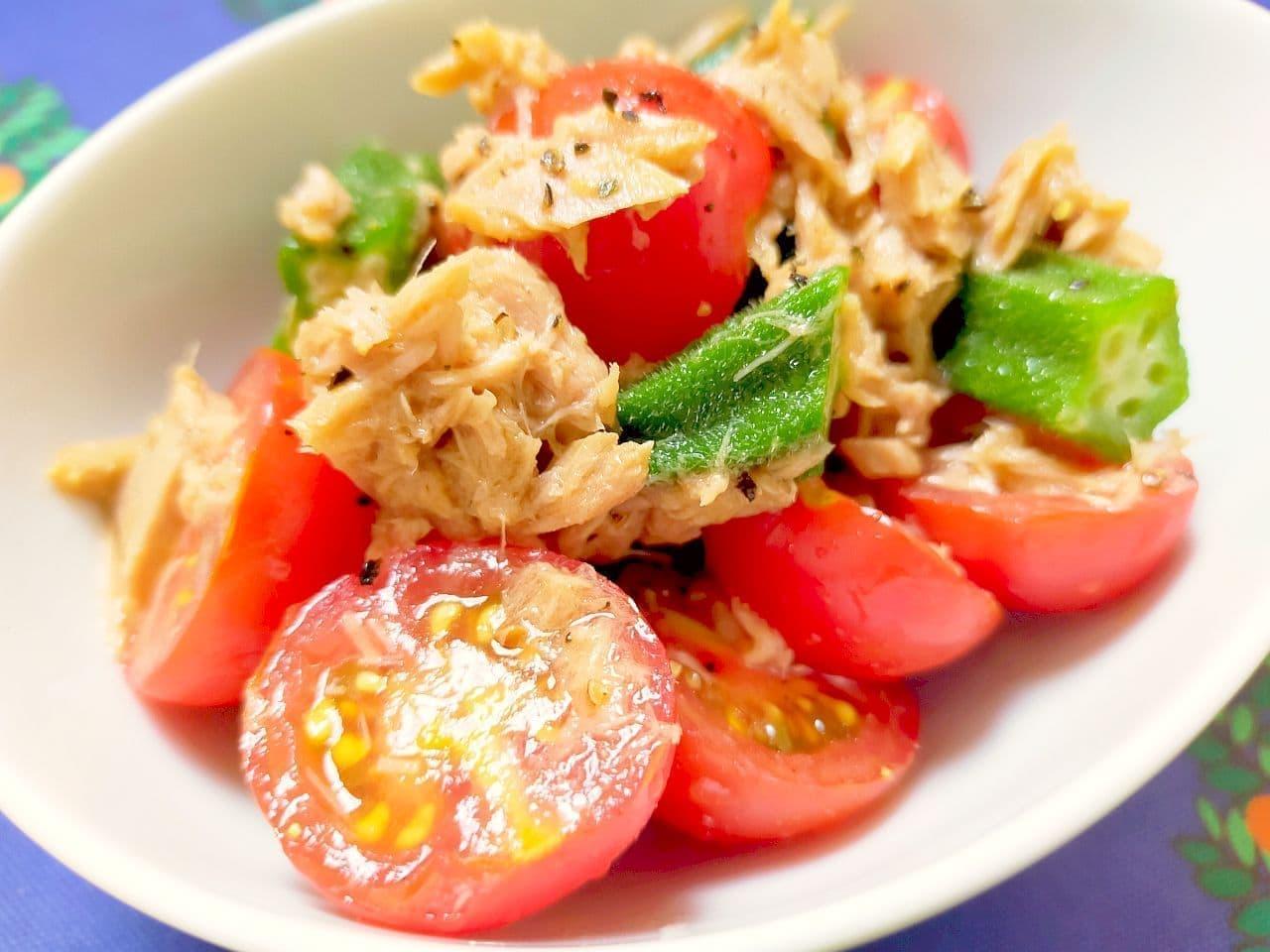「ミニトマトとオクラのツナ和え」レシピ