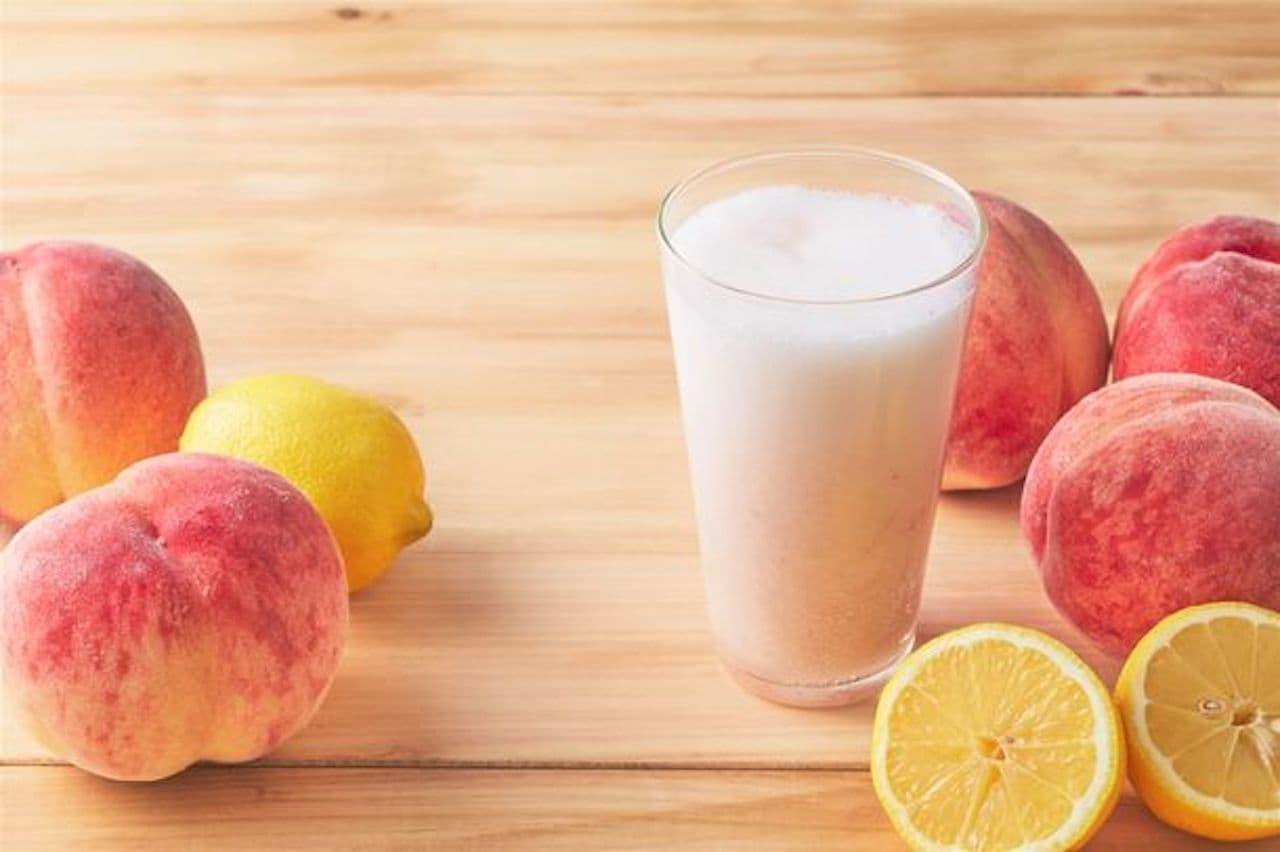 果汁工房果琳「さわやかレモンの桃ソーダ」