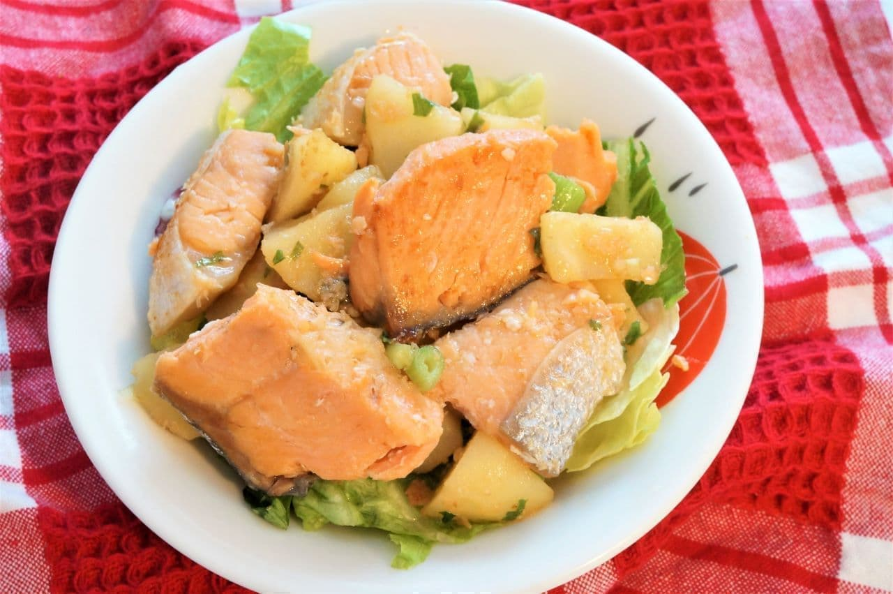 "Recipe for ""Salmon Jaga Butter Stir-fried in Salty Sauce"""