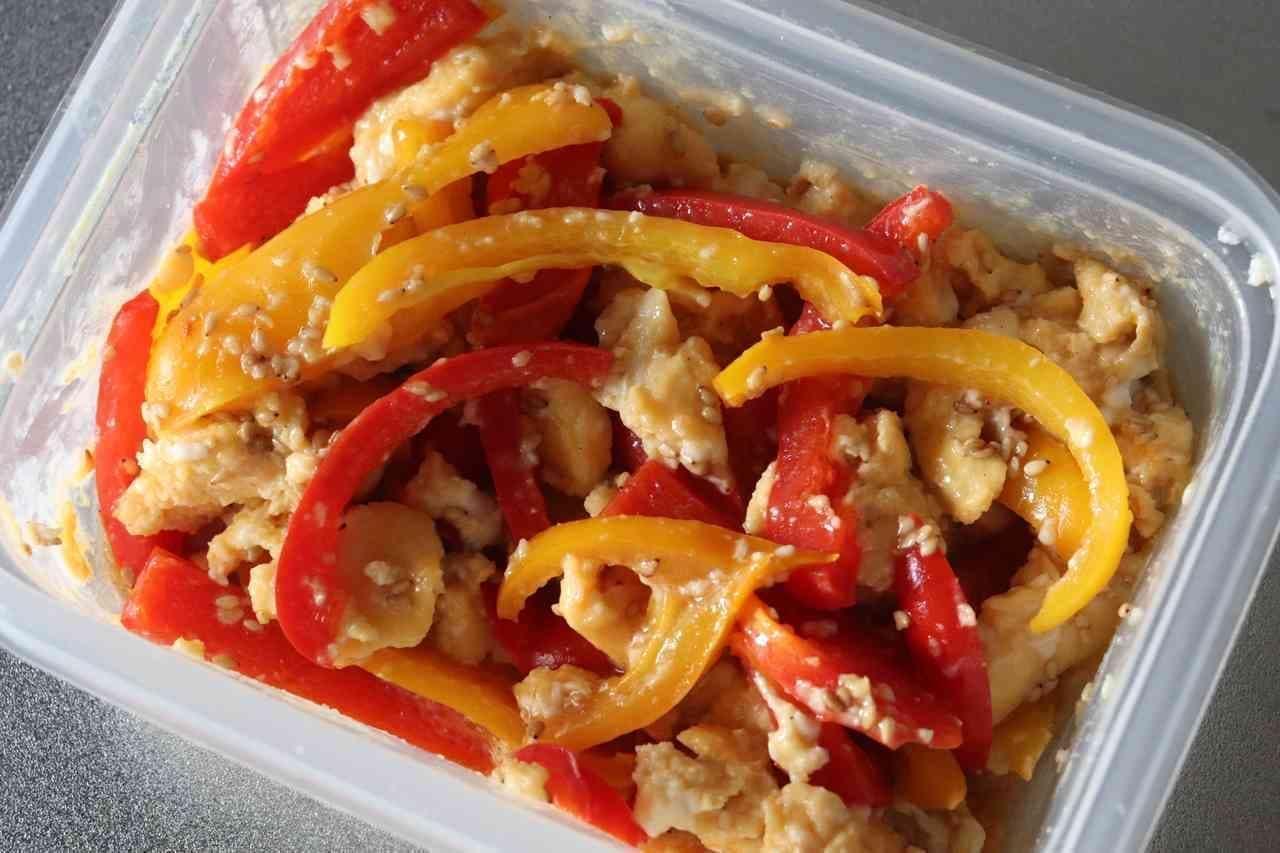 「パプリカと卵の中華風」レシピ