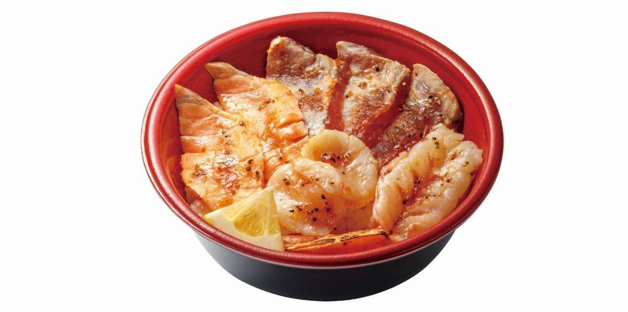 はま寿司「海鮮レアステーキ丼」