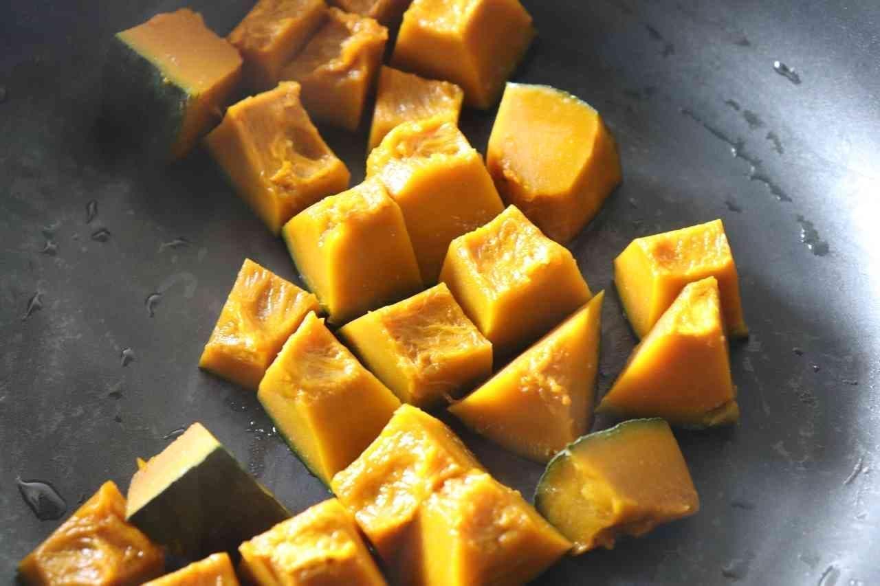 和テイスト「かぼちゃおかかサラダ」レシピ