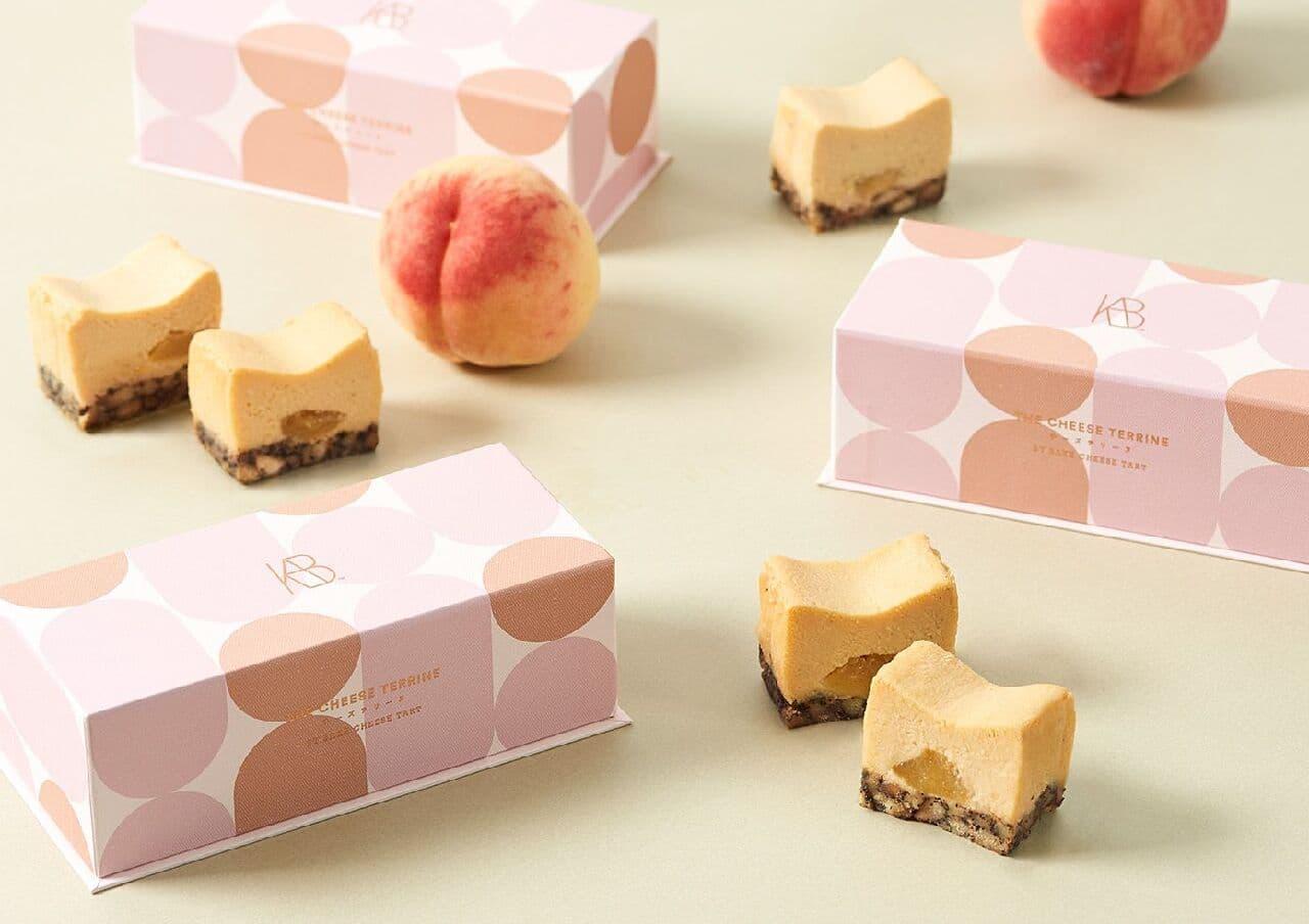 お取り寄せ(楽天) 今季新発売のスイーツ★ 桃とアールグレイのチーズテリーヌ 桃 紅茶 チーズケーキ 価格3,200円 (税込)