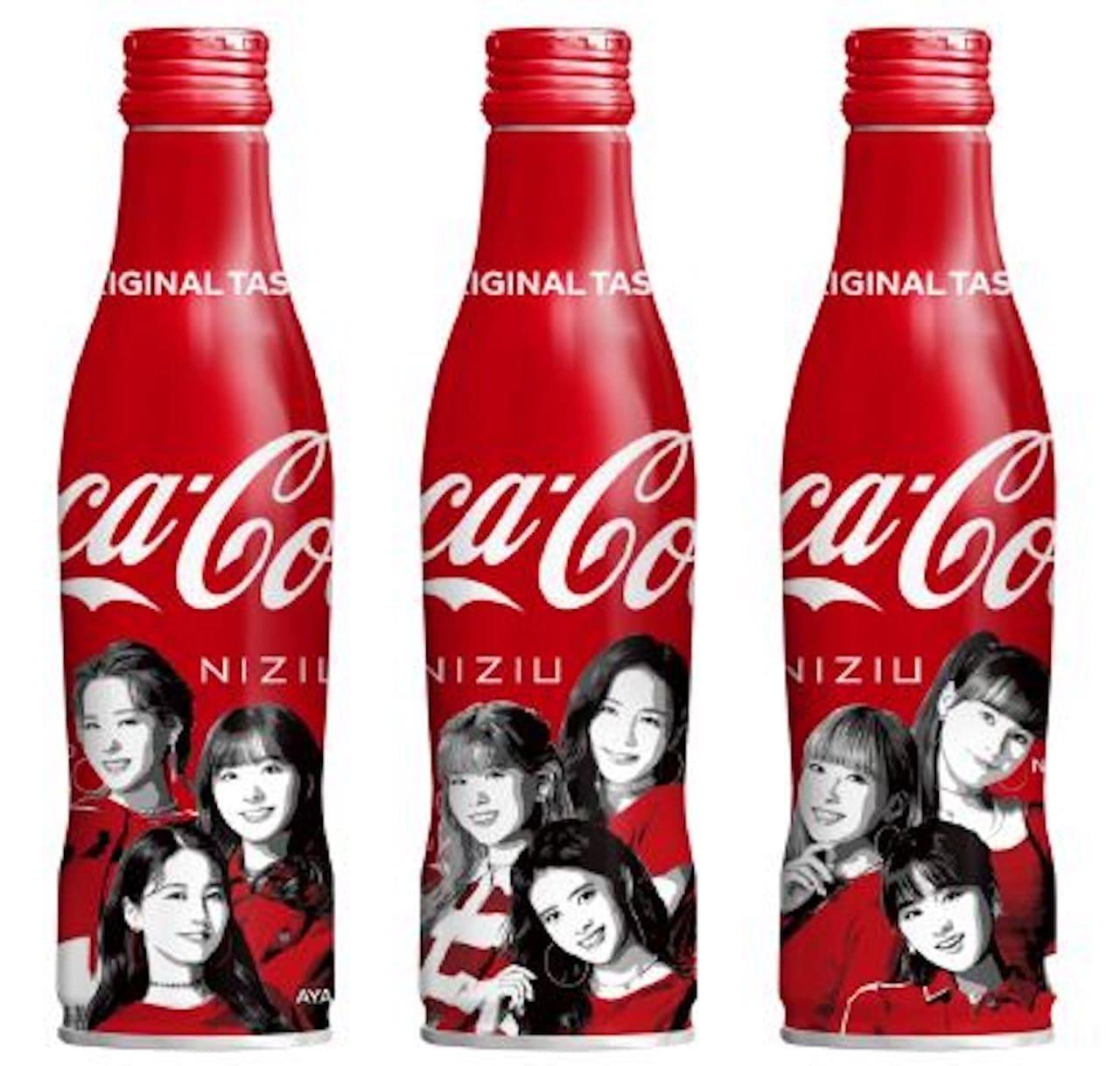 「コカ・コーラ スリムボトル NiziUデザイン」250mlの飲み切りサイズ
