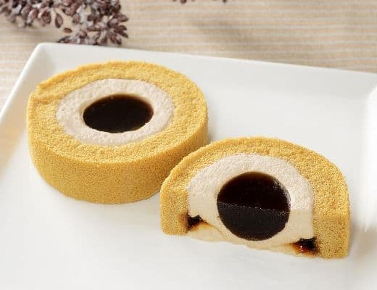 ローソン「黒糖ロールケーキ(沖縄県産黒糖の黒蜜使用)」