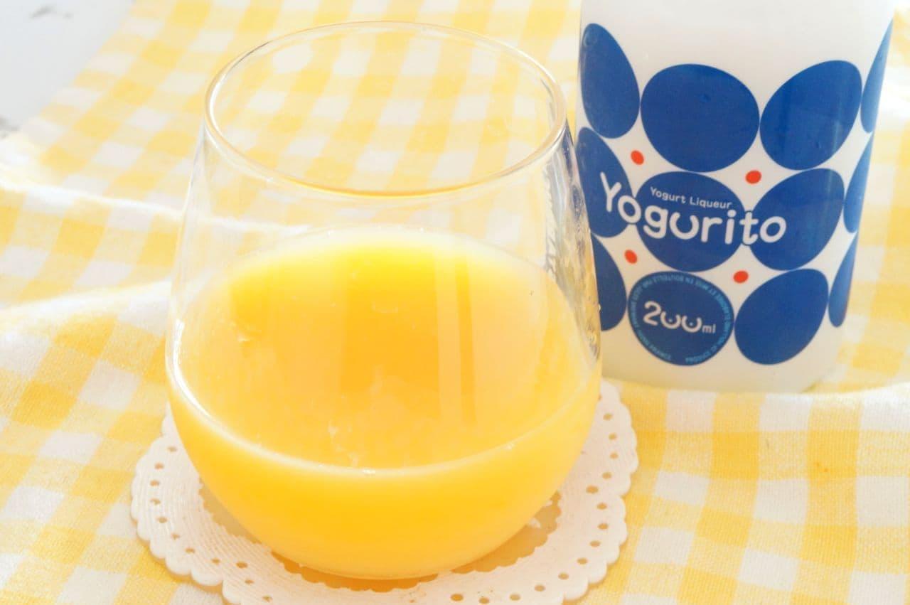 ヨーグルトのお酒「ヨーグリート」オレンジジュース割り