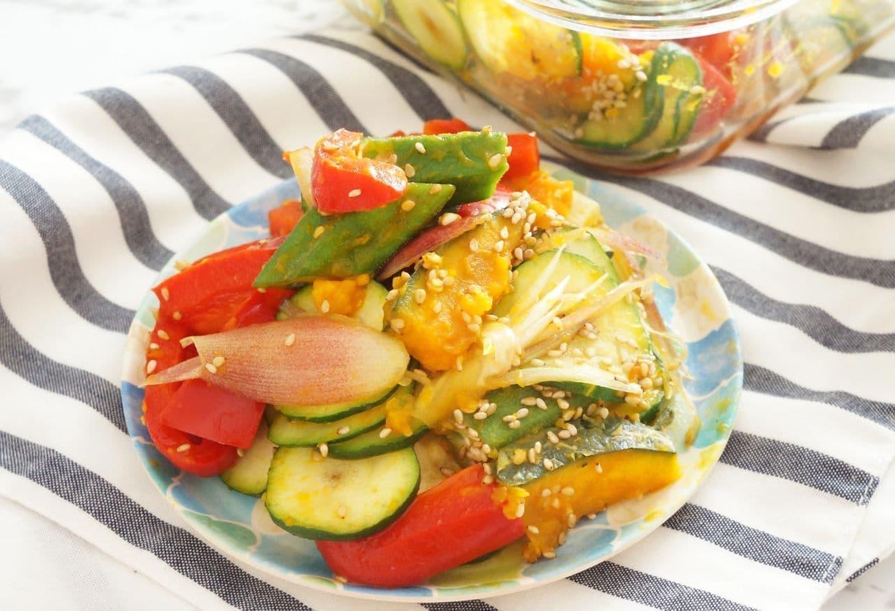 レンジで簡単「夏野菜ナムル」