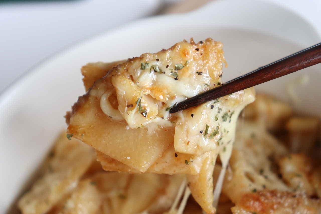 「たけのこ甘辛チーズ焼き」レシピ