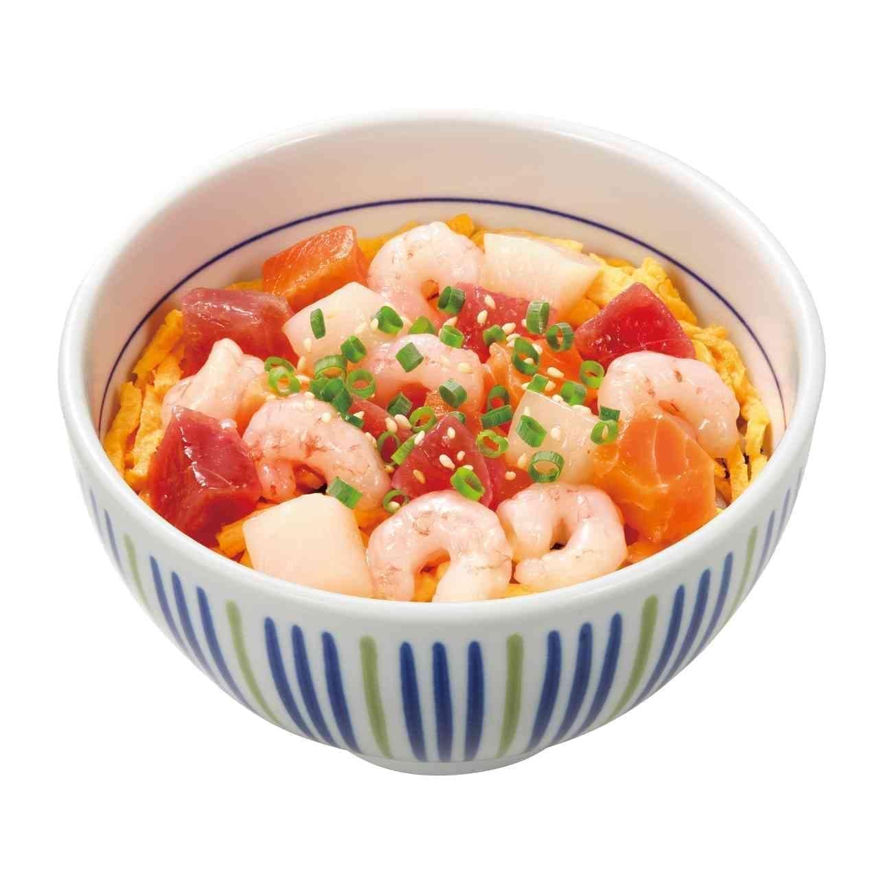 なか卯「たっぷり甘えび海鮮丼」