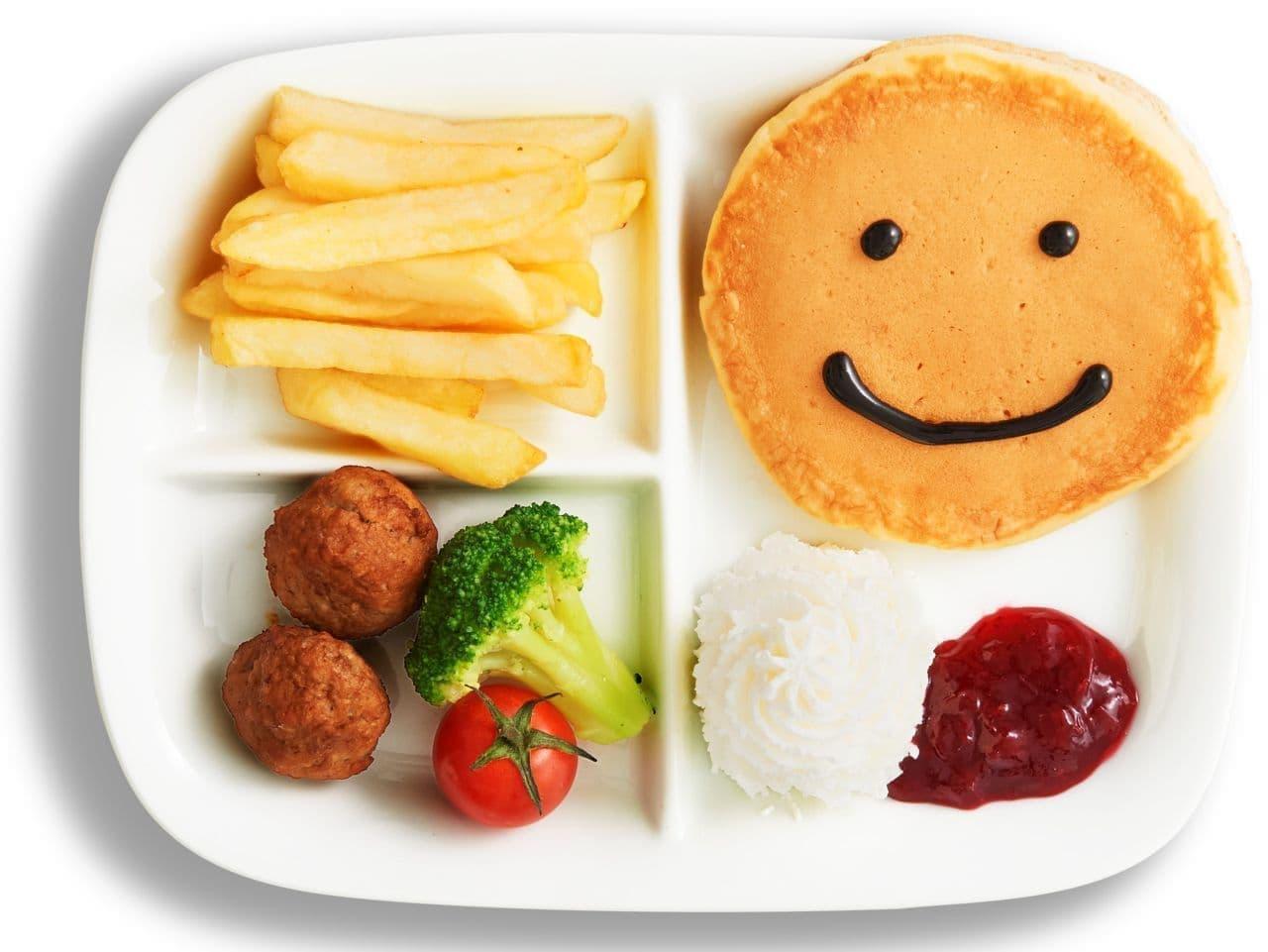 イケアレストラン「キッズパンケーキプレート(ゼリー付き)」
