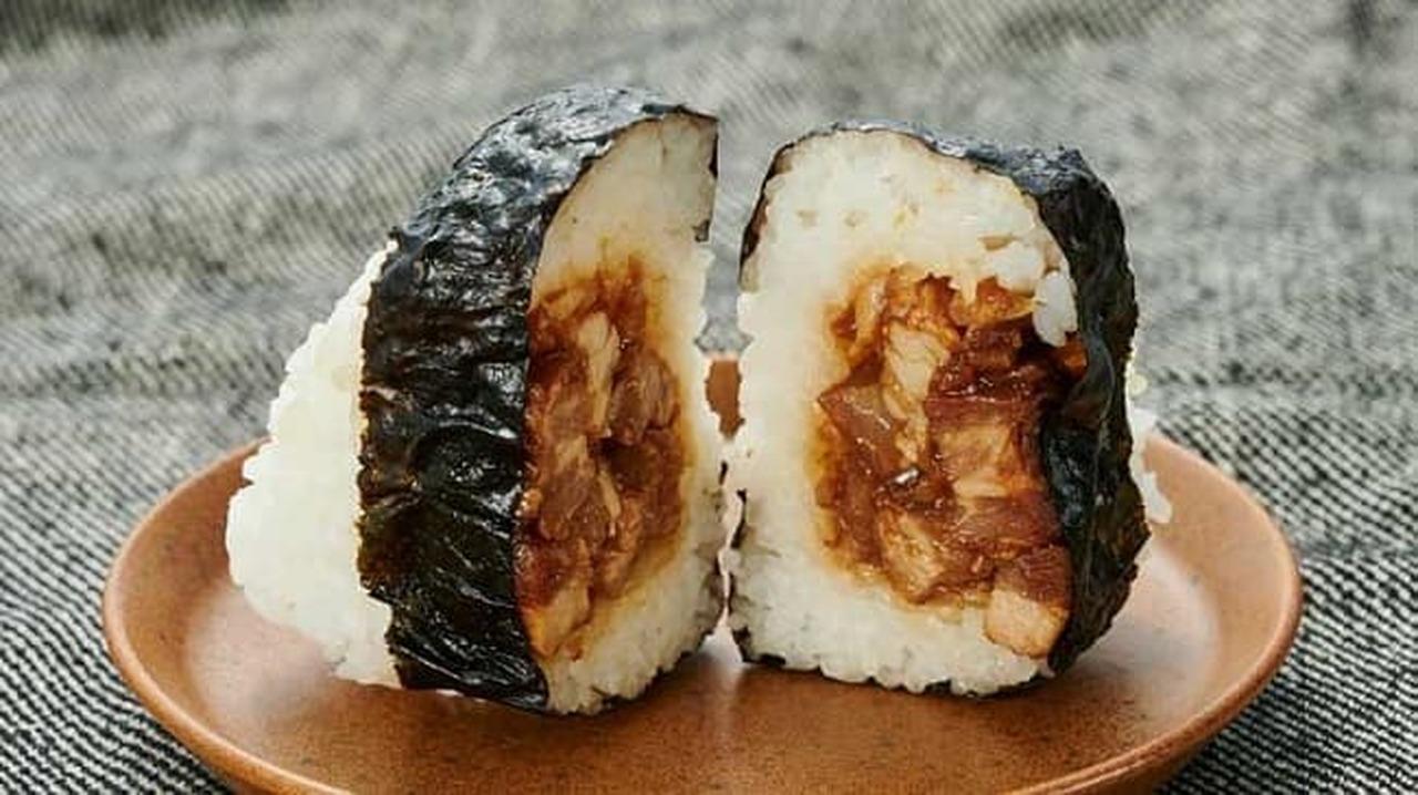 ローソンストア100「柔らかく煮込んだ豚角煮おにぎり」