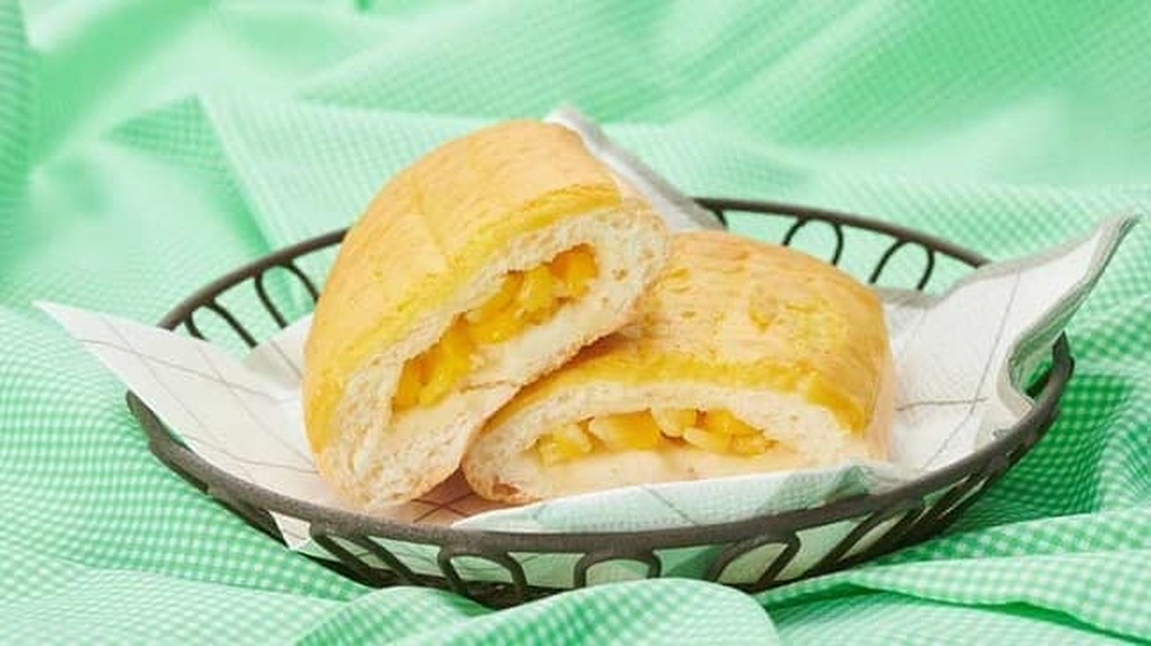 ローソンストア100「VLとうもろこしみたいなパン」