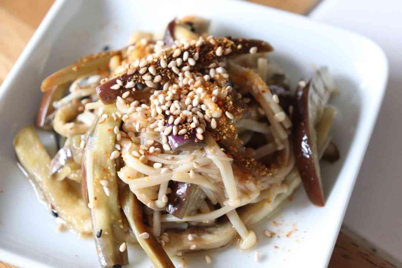 「えのきとなすの中華風和え」レシピ